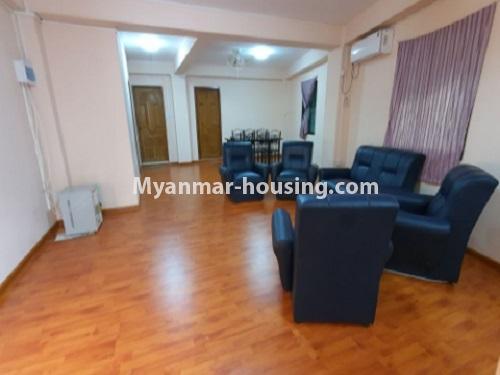 မြန်မာအိမ်ခြံမြေ - ငှားရန် property - No.4744 - စမ်းချောင်းတွင် အခန်းကောင်း Mini Condo  အခန်းငှားရန်ရှိသည်။another view of living room