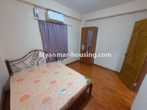 မြန်မာအိမ်ခြံမြေ - ငှားရန် property - No.4744 - စမ်းချောင်းတွင် အခန်းကောင်း Mini Condo  အခန်းငှားရန်ရှိသည်။bedroom view