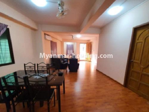 မြန်မာအိမ်ခြံမြေ - ငှားရန် property - No.4744 - စမ်းချောင်းတွင် အခန်းကောင်း Mini Condo  အခန်းငှားရန်ရှိသည်။dinning area view