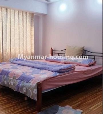 မြန်မာအိမ်ခြံမြေ - ငှားရန် property - No.4759 - အဆင့်မြင့်ပြင်ဆင်ထားသည့် အိပ်ခန်း၃ခန်းပါသည့်  အခန်းကောင်း ငှားရန်ရှိသည်။mastter bedroom view