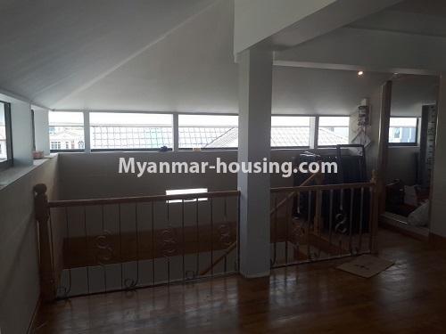 မြန်မာအိမ်ခြံမြေ - ငှားရန် property - No.4771 - အီတလီသံရုံးအနီးတွင် လုံးချင်း RC4ထပ် တိုက်သစ် တစ်လုံး ငှားရန်ရှိသည်။another view of top floor