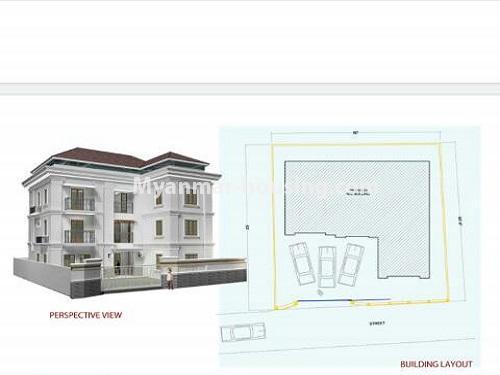 မြန်မာအိမ်ခြံမြေ - ငှားရန် property - No.4771 - အီတလီသံရုံးအနီးတွင် လုံးချင်း RC4ထပ် တိုက်သစ် တစ်လုံး ငှားရန်ရှိသည်။house layout view
