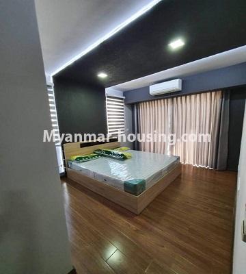မြန်မာအိမ်ခြံမြေ - ငှားရန် property - No.4774 - Star City Condo တွင် အိပ်ခန်း သုံးခန်း ပါသည့် အခန်းကောင်း ငှားရန်ရှိသည်။master bedroom view