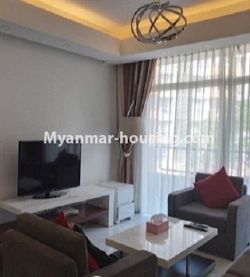 မြန်မာအိမ်ခြံမြေ - ငှားရန် property - No.4796 - Star City Condo တွင် အိပ်ခန်း တစ်ခန်း ပါသည့် အခန်းကောင်း ငှားရန်ရှိသည်။living room view