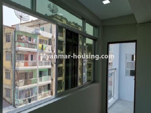 Myanmar real estate - for rent property - No.4797 - 2 BHK apartment room for rent in Tarmway! - front side view