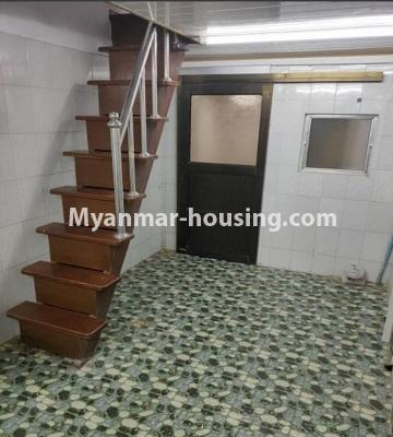 Myanmar real estate - for rent property - No.4805 - Ground floor with full attic for rent in Ahlone! - ground floor and stairs view