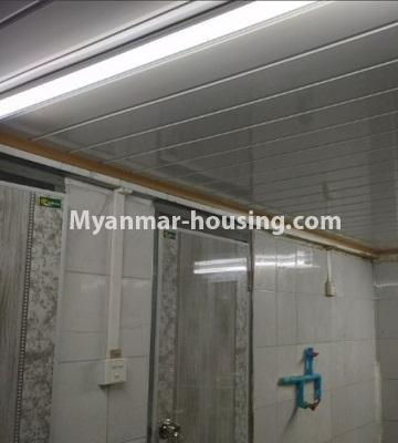 Myanmar real estate - for rent property - No.4805 - Ground floor with full attic for rent in Ahlone! - bathroom and toilet view