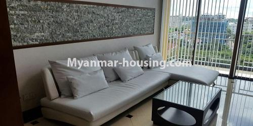 Myanmar real estate - for rent property - No.4811 - Luxurious Pyay Garden Residential Room for rent in Sanchaung Township. - living room viewl