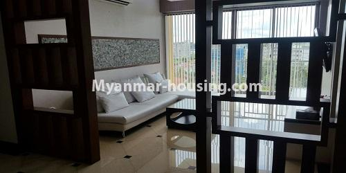 Myanmar real estate - for rent property - No.4811 - Luxurious Pyay Garden Residential Room for rent in Sanchaung Township. - another view of living room
