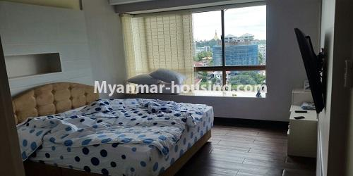 Myanmar real estate - for rent property - No.4811 - Luxurious Pyay Garden Residential Room for rent in Sanchaung Township. - bedroom view