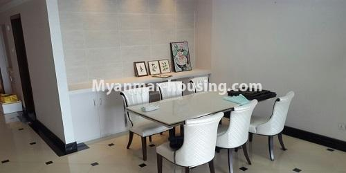 Myanmar real estate - for rent property - No.4811 - Luxurious Pyay Garden Residential Room for rent in Sanchaung Township. - dining area view