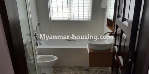Myanmar real estate - for rent property - No.4811 - Luxurious Pyay Garden Residential Room for rent in Sanchaung Township. - bathroom view
