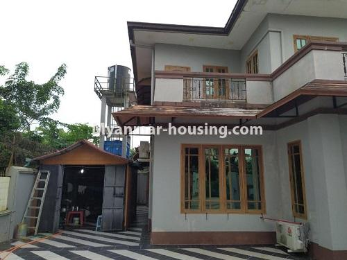 Myanmar real estate - for rent property - No.4823 - Two storey landed house for rent in Aung Chan Thar Housing, Thanlyin! - another view of the house