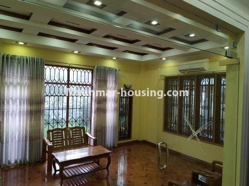 Myanmar real estate - for rent property - No.4823 - Two storey landed house for rent in Aung Chan Thar Housing, Thanlyin! - living room view