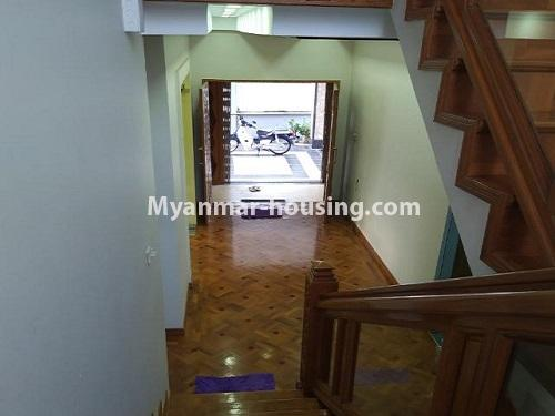 Myanmar real estate - for rent property - No.4823 - Two storey landed house for rent in Aung Chan Thar Housing, Thanlyin! - main entrance door