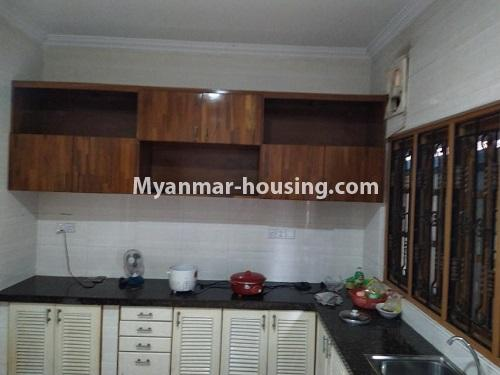 Myanmar real estate - for rent property - No.4823 - Two storey landed house for rent in Aung Chan Thar Housing, Thanlyin! - kitchen view