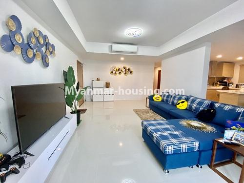 Myanmar real estate - for rent property - No.4844 - Star City Galaxy Tower Ground floor for rent, Thanlyin! - living room view