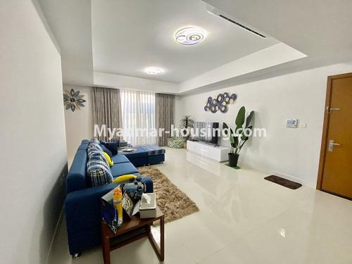 Myanmar real estate - for rent property - No.4844 - Star City Galaxy Tower Ground floor for rent, Thanlyin! - another view of living room