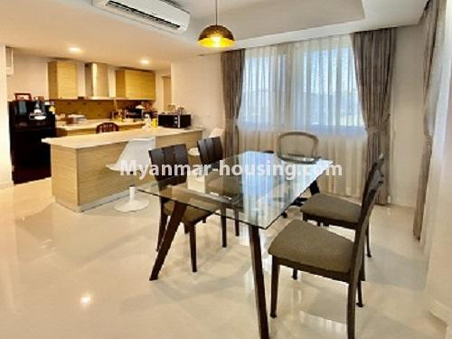 Myanmar real estate - for rent property - No.4844 - Star City Galaxy Tower Ground floor for rent, Thanlyin! - kitchen and dining area veiw