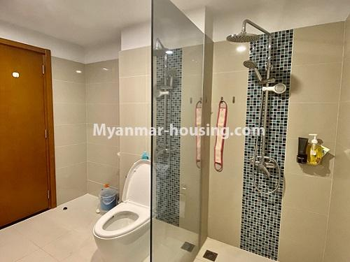 Myanmar real estate - for rent property - No.4844 - Star City Galaxy Tower Ground floor for rent, Thanlyin! - bathroom view