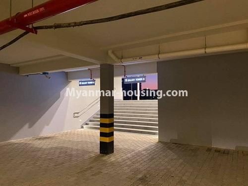 Myanmar real estate - for rent property - No.4844 - Star City Galaxy Tower Ground floor for rent, Thanlyin! - car parking view