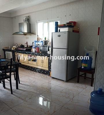 Myanmar real estate - for rent property - No.4846 - 2 BHK mini condominium room for rent near Hledan Junction, Kamaryut! - kitchen view