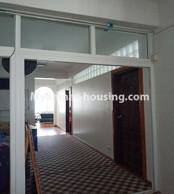 Myanmar real estate - for rent property - No.4846 - 2 BHK mini condominium room for rent near Hledan Junction, Kamaryut! - another view of corridor