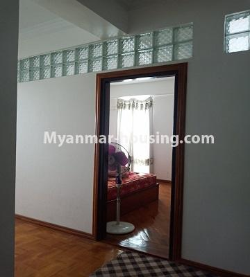 Myanmar real estate - for rent property - No.4846 - 2 BHK mini condominium room for rent near Hledan Junction, Kamaryut! - bedroom view