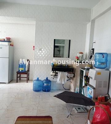 Myanmar real estate - for rent property - No.4846 - 2 BHK mini condominium room for rent near Hledan Junction, Kamaryut! - another view of kitchen area