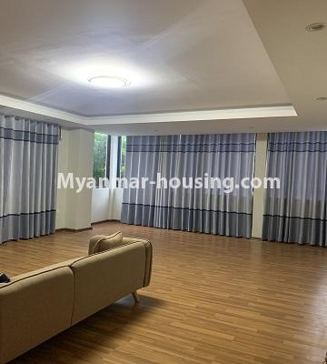 Myanmar real estate - for rent property - No.4847 - 2 BHK mini condominium room for rent in Kamaryut! - another view of living room