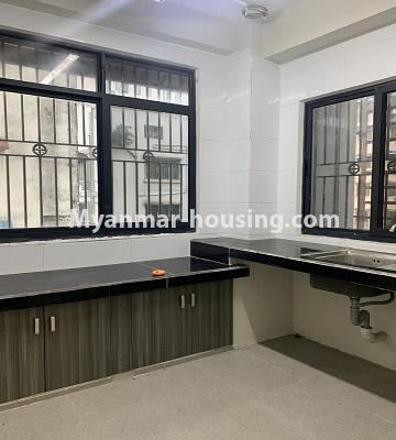 Myanmar real estate - for rent property - No.4847 - 2 BHK mini condominium room for rent in Kamaryut! - kitchen view
