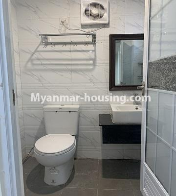 Myanmar real estate - for rent property - No.4847 - 2 BHK mini condominium room for rent in Kamaryut! - bathroom view