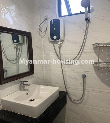 Myanmar real estate - for rent property - No.4847 - 2 BHK mini condominium room for rent in Kamaryut! - another bathroom view