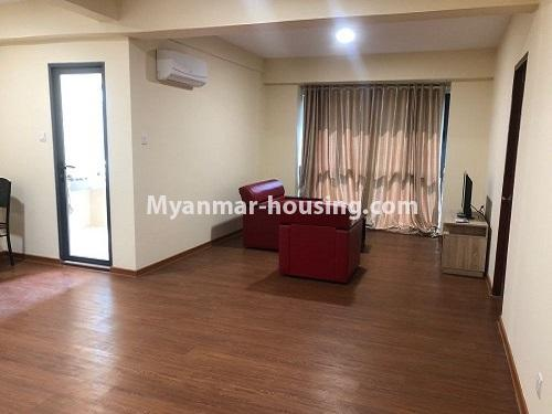 Myanmar real estate - for rent property - No.4884 - 2 BHK UBC condominium room for rent in Thin Gann Gyun! - another view of living room