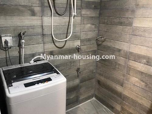 Myanmar real estate - for rent property - No.4884 - 2 BHK UBC condominium room for rent in Thin Gann Gyun! - bathroom view
