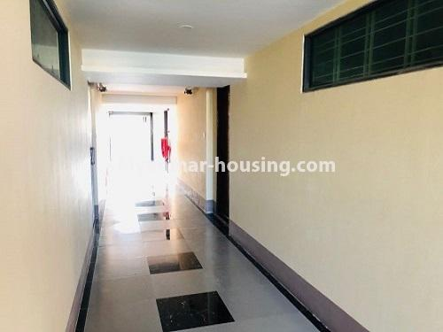 Myanmar real estate - for rent property - No.4884 - 2 BHK UBC condominium room for rent in Thin Gann Gyun! - corridor view