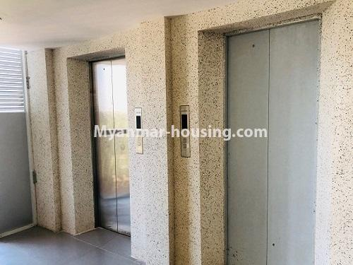 Myanmar real estate - for rent property - No.4884 - 2 BHK UBC condominium room for rent in Thin Gann Gyun! - lifts view