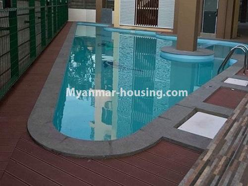 Myanmar real estate - for rent property - No.4884 - 2 BHK UBC condominium room for rent in Thin Gann Gyun! - another view of swimming pool