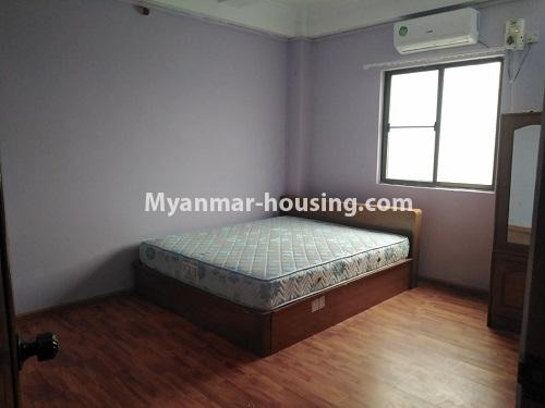 ミャンマー不動産 - 賃貸物件 - No.4886 - Yangon Downtown Furnished Condominium Room for Rent! - bedroom view