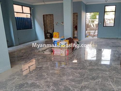 Myanmar real estate - for rent property - No.4890 - 3 RC House for rent in Aung Theikdi Street, Mayangone! - hall view