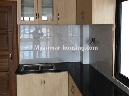 Myanmar real estate - for rent property - No.4890 - 3 RC House for rent in Aung Theikdi Street, Mayangone! - kitchen view