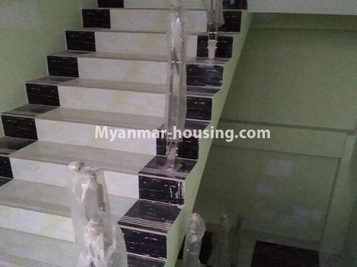 Myanmar real estate - for rent property - No.4890 - 3 RC House for rent in Aung Theikdi Street, Mayangone! - stairs view
