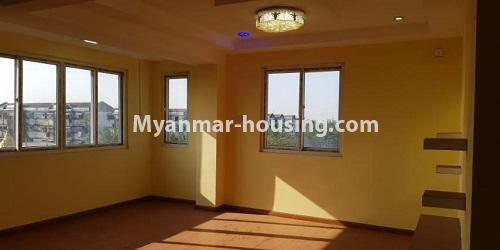 Myanmar real estate - for rent property - No.4891 - 2BHK Mini Condo Room for rent on Baho road, Hlaing! - living room view
