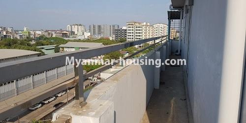 Myanmar real estate - for rent property - No.4891 - 2BHK Mini Condo Room for rent on Baho road, Hlaing! - balcony view