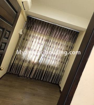 Myanmar real estate - for rent property - No.4892 - Decorated and furnished Aung Chan Thar Codominium room for rent in Yankin! - bedroom view