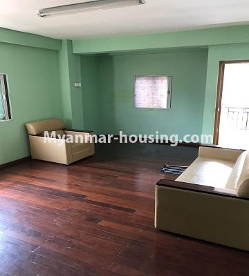 Myanmar real estate - for rent property - No.4893 - Second Floor 2 BHK Apartment Room for rent in Yakin! - living room view