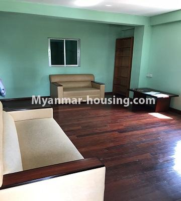 Myanmar real estate - for rent property - No.4893 - Second Floor 2 BHK Apartment Room for rent in Yakin! - another view of living room