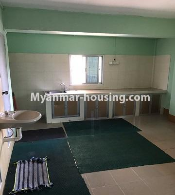 Myanmar real estate - for rent property - No.4893 - Second Floor 2 BHK Apartment Room for rent in Yakin! - kitchen view