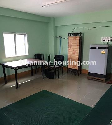 Myanmar real estate - for rent property - No.4893 - Second Floor 2 BHK Apartment Room for rent in Yakin! - dining area view