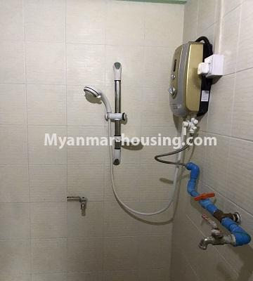Myanmar real estate - for rent property - No.4893 - Second Floor 2 BHK Apartment Room for rent in Yakin! - bathroom view